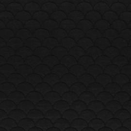 Tissu jersey matelassé écailles Aquarius - noir x10cm