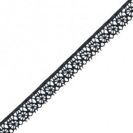 15 mm Lace Ribbon - Black Amelie x 1m
