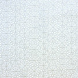 Openwork cotton fabric - white Meghan x 10cm
