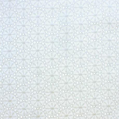 Openwork cotton fabric - white Meghan x 10cm