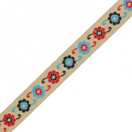30 mm Embroidered Indian Trim - A Manasa x 1m