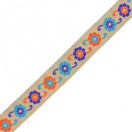 30 mm Embroidered Indian Trim - B Manasa x 1m