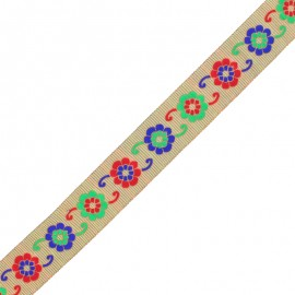 30 mm Embroidered Indian Trim - E Manasa x 1m