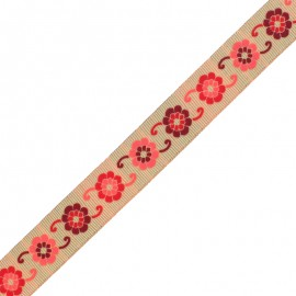 30 mm Embroidered Indian Trim - F Manasa x 1m