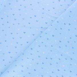 Cotton fabric - light blue Corazon x 10cm