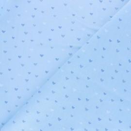 Tissu coton Corazon - bleu x 10cm