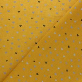 Tissu coton Corazon - jaune x 10cm