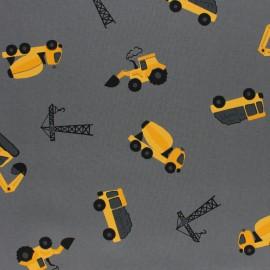 Tissu Popeline Chantier en cours - Gris x 10cm