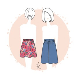 Skirt Sewing Pattern - Anne Kerdilès Sillon