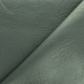 Strucked Imitation leather - Metallic green vintage x 10cm