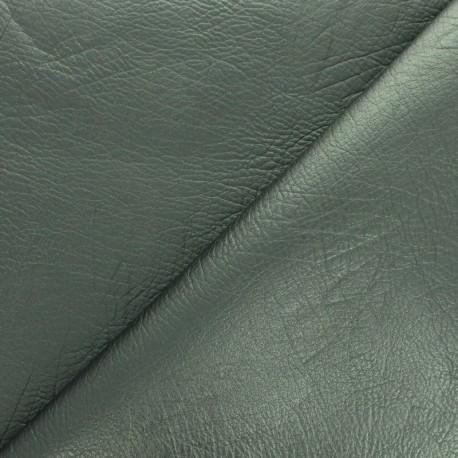 Simili cuir frappé vintage - vert métallisé x 10cm