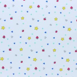 Tissu jersey Mimi étoile - blanc x 10cm