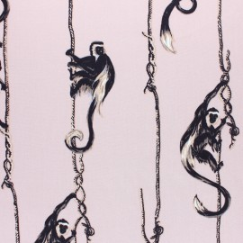 Twill viscose fabric - black Dorian x 10 cm