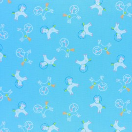 Dear Stella Space Magic Poplin fabric - blue Unicorns Space x 10cm