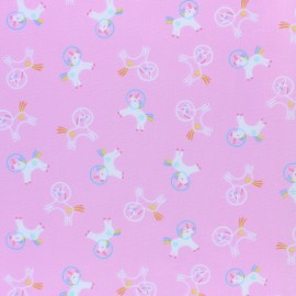 Dear Stella Space Magic Poplin fabric - pink Unicorns Space x 10cm