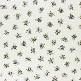 Tissu coton Timeless Treasures - Tossed Bee - jaune x 10cm