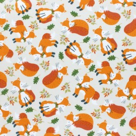 Timeless Treasures cotton fabric - Oat Tossed fox x 10cm