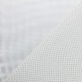 Perforated outdoor canvas fabric - Optical White Oxa x 10cm