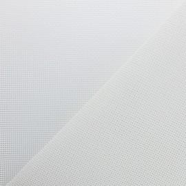 Tissu Toile ajourée Oxa Spécial extérieur - Blanc optique x 10 cm