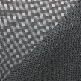 Perforated outdoor canvas fabric - Dark grey Oxa x 10cm