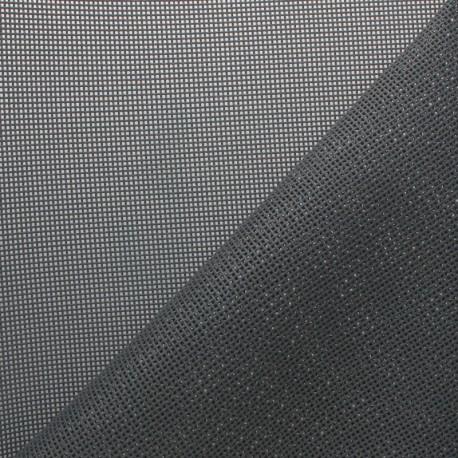 Perforated outdoor canvas fabric - Dark grey Oxa x 10cm