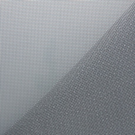 Perforated outdoor canvas fabric - light grey Oxa x 10cm