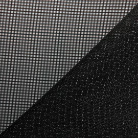 Perforated outdoor canvas fabric - black Oxa x 10cm