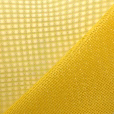 Tissu Toile ajourée Oxa Spécial extérieur - jaune citron x 10 cm