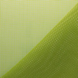 Perforated outdoor canvas fabric - lime green Oxa x 10cm