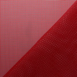 Perforated outdoor canvas fabric - red Oxa x 10cm