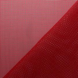 Tissu Toile ajourée Oxa Spécial extérieur - Rouge x 10 cm