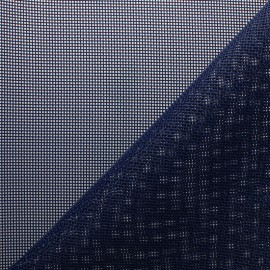Perforated outdoor canvas fabric - navy Oxa x 10cm