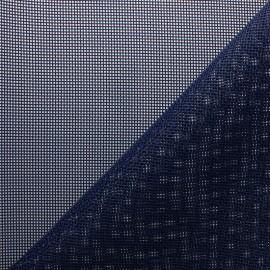 Tissu Toile ajourée Oxa Spécial extérieur - marine x10 cm