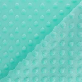 Dotted minkee velvet fabric - mint green x 10cm