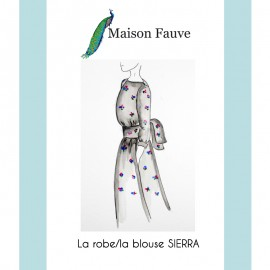 Dress Sewing Pattern Maison Fauve - Sierra