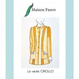 Patron Veste Maison Fauve - Criollo