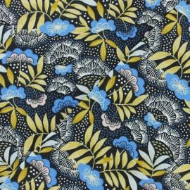 Tissu coton cretonne Nagoya - bleu x 10cm