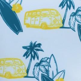Tissu toile imperméable Surfin' - bleu x 10cm