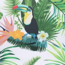 Tissu toile imperméable Padang - blanc x 10cm