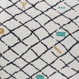 Special outdoor waterproof fabric - black Kasbah x 10 cm