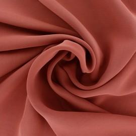 Crepe Muslin Fabric - terracotta x 50cm