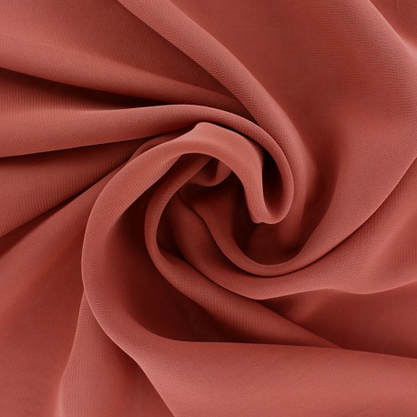 Tissu mousseline crêpe - terracotta x 50cm