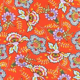 Tissu Viscose Indra - orange x 10cm