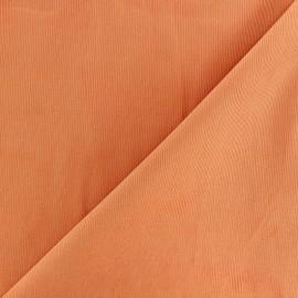 Tissu velours milleraies 200gr/ml - abricot x10cm
