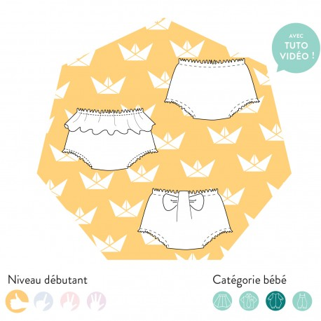 Bloomer Sewing Pattern - Les Patronnes Baby Lingerie
