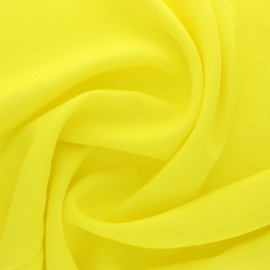 Polyviscose fabric - lemon Yellow x 10 cm