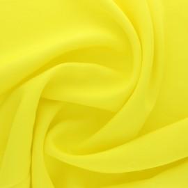Tissu polyviscose uni - jaune citron x 10cm