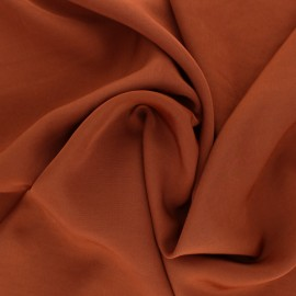 Polyviscose fabric - Sienna brown x 10 cm