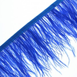 14 cm Ostrich Feather Ribbon - Royal Blue Rio x 50cm