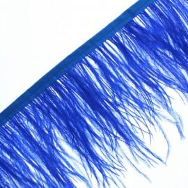 Galon Plumes d'Autruche Rio 14 cm - Bleu Roi x 50cm